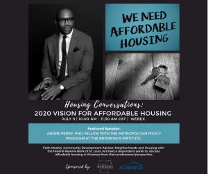 Announcement from Housing Conversations: 2020 Vision for Affordable Housing.